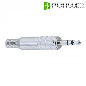 Konektor jack 2,5 mm BKL 1107022, zástrčka rovná, 3pól./stereo, stříbrná