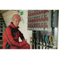 Ochranná PE přilba Voss Helme pro elektrikáře, 6bodová, červená
