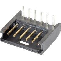 Kolíková lišta MOD II TE Connectivity 280379-2, úhlová, 2,54 mm, černá