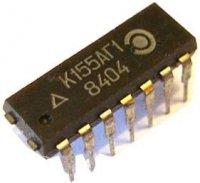 74121 - monostabilní klopný obvod, DIL14 /K155AG1/