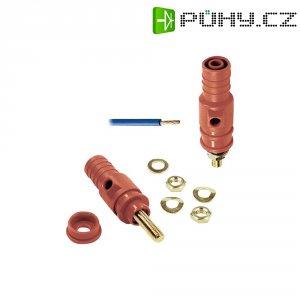 Pólová svorka MultiContact 23.0410-22, (Ø) 4 mm, červená