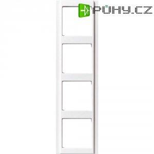 Krycí rámeček Jung, A584WW, čtyřnásoný, bílá