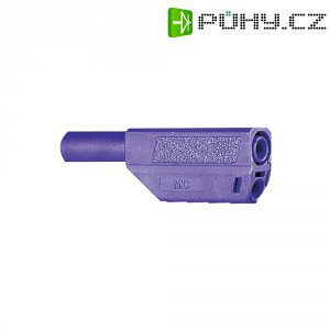 Lamelový konektor Ø 4 mm MultiContact 22.2657-26, zástrčka rovná, fialová