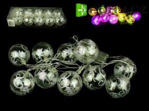 Vánoční osvětlení, LED RGB blikající baňky na baterie