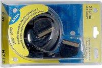Kabel Scart-Scart 6m HiFi plast 2x stínění DOPRODEJ