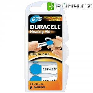 Zinko-vzduchová knoflíková baterie do naslouchátek Duracell ZA675, sada 6 ks