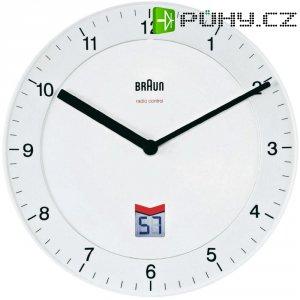 Analogové DCF nástěnné hodiny Braun, Ø 20 cm, bílá