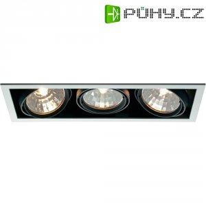 Halogenové vestavné světlo Savona 34060S, 3x 70 W, černá/stříbrná