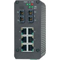 Switch na DIN lištu, 8-portový, 2 SC porty