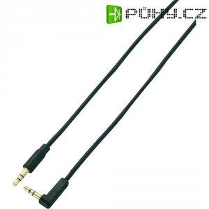 Připojovací kabel SpeaKa, jack zástr. 3.5 mm/jack zástr. 3.5 mm, černý, 1 m