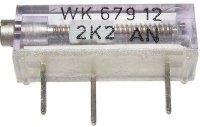 WK67912 - 1M5, cermetový trimr 16 otáček