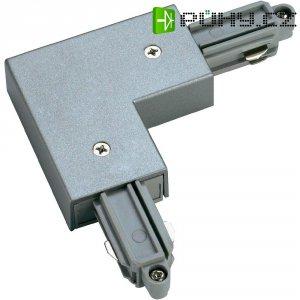 Rohová spojka SLV pro 1fázový HV kolejnicový systém 143062, stříbrná/šedá