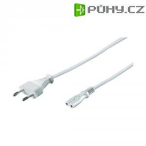 Euro síťový kabel Hawa, zástrčka euro ⇔ zásuvka C7, 1,5 m, bílá