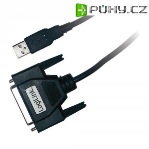 Adaptér LogiLink USB 1.1/D-SUB, černý, 1,8 m