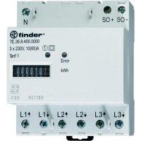 Třífázový elektroměr mechanické Finder 7E.36.8.400.0010, 65 A, 1 tarif