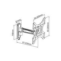"Držák Manhattan Universal, 43- 94 cm (17\"" - 37\""), 23,5 cm"