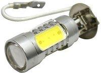 Žárovka LED H3 12V/9W, bílá, 5x LED1,5W