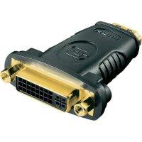HDMI / DVI adaptér Goobay 68690, [1x HDMI zásuvka - 1x DVI zásuvka 24+5pólová], černá