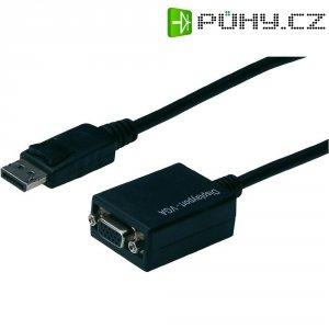 Kabel DisplayPort vidlice ⇔ VGA zásuvka, 15 cm, černý