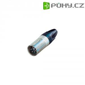 XLR kabelová zástrčka Neutrik NC 4 MXX, rovná, 4pól., 3,5 - 8 mm, stříbrná