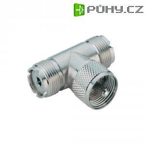 UHF zástrčka / UHF zásuvka, 50 Ω, M 358, adaptér úhlový, Izolace: Delrin, PTFE, DAP