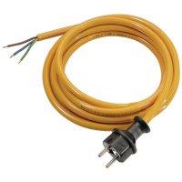 Síťový kabel AS Schwabe 70918, zástrčka/otevřený konec, 1 mm², 3 m, oranžová