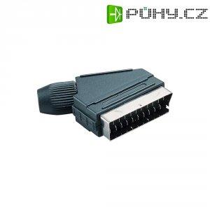 SCART konektor BKL 903011, zástrčka úhlová, 4 - 8 mm, 21pól., černá