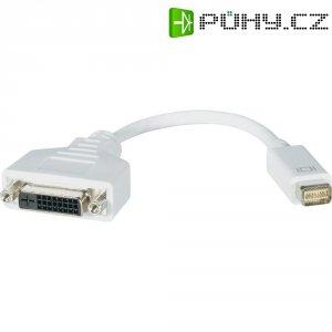 Mini DVI/DVI kabel s adaptérem, bílá 0,2 m
