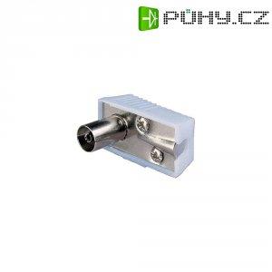 Anténní zástrčka, 410322, 5 - 7 mm, kovová, úhlová