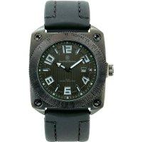 Ručičkové náramkové hodinky S&W, 76053, gumový pásek, černá