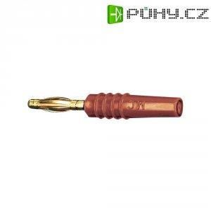 Lamelový konektor Ø 2 mm MultiContact 22.2618-22, zástrčka rovná, červená