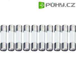 Jemná pojistka ESKA pomalá UL522.207, 250 V, 0,1 A, skleněná trubice, 5 mm x 20 mm, 10 ks