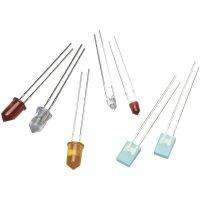 LED s vývody Broadcom HLMP-K640, 3 mm, 45 °, 21 mcd, smaragdově zelená