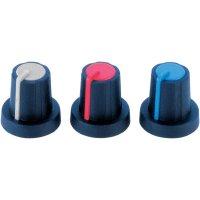 Otočný knoflík (Ø 16 mm) Soft-Touch PB Fastener 3/03/TPN 110006, 6 mm, černá/červená