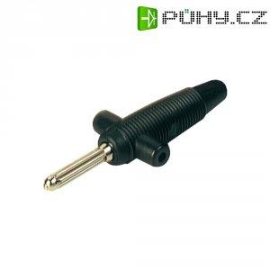 Bezpečnostní konektor SKS Hirsch. Buela 300 K (931667100), zástr. rov., 2,5 mm², černá