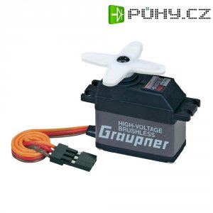 Midi Brushless servo Graupner HBS 660 BB MG, JR konektor