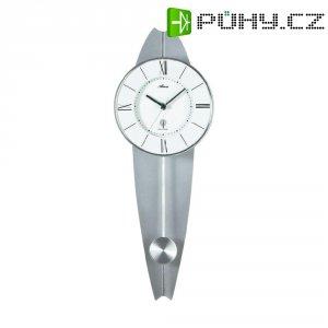 DCF nástěnné hodiny s kyvaldem, 5088/19, 18 x 50 cm, stříbrná