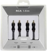 Připojovací kabel Sound & Image, cinch zástr./cinch zástr., šedý/černý, 1,5 m