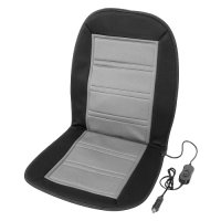 Vyhřívaný potah sedadla s termostatem 12V LADDER šedý