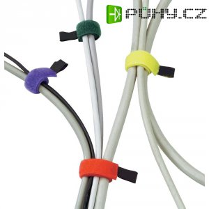 Stahovací pásky-suchý zip, 6ks