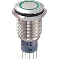 Tlačítkový spínač antivandal TRU Components LAS2GQF-11ZE/G/12V/N/P, 250 V/AC, 3 A, 1 ks
