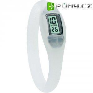 Silikonové náramkové hodinky TFA, transparentní