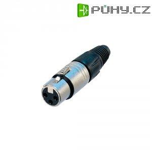 XLR kabelová zásuvka Neutrik NC4FX, rovná, 4pól., 3,5 - 8 mm, stříbrná
