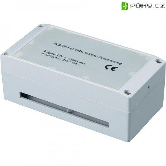Bezdrátový přijímač, 18007, 6kanálový, 300 m, 433 MHz, 230 V/50 Hz/8 A - Kliknutím na obrázek zavřete