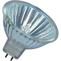Halogenová žárovka Osram, 12 V, 50 W, GU5.3, Ø 51 mm, stmívatelná, teplá bílá, 2 ks