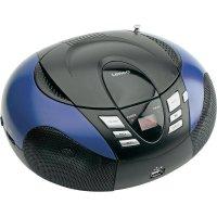 Rádio s CD přehrávačem Lenco SCD-37 USB/MP3, modrá
