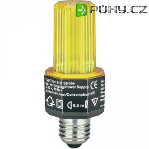 Stroboskopický blikač, E27, žlutý