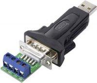 Převodník Digitus, DA-70157, zástrčka RS485 ⇔ zástrčka USB 2.0, bílá