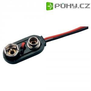 Klip na 9V baterii Emmerich, I-provedení, 26 x 13 x 8 mm, černá