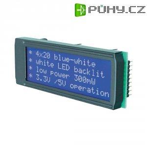 LED modul EA DIP203B-4NLW, EADIP203B-4NLW, 10,8 mm, bílá/modrá, DIP203B-4NLW